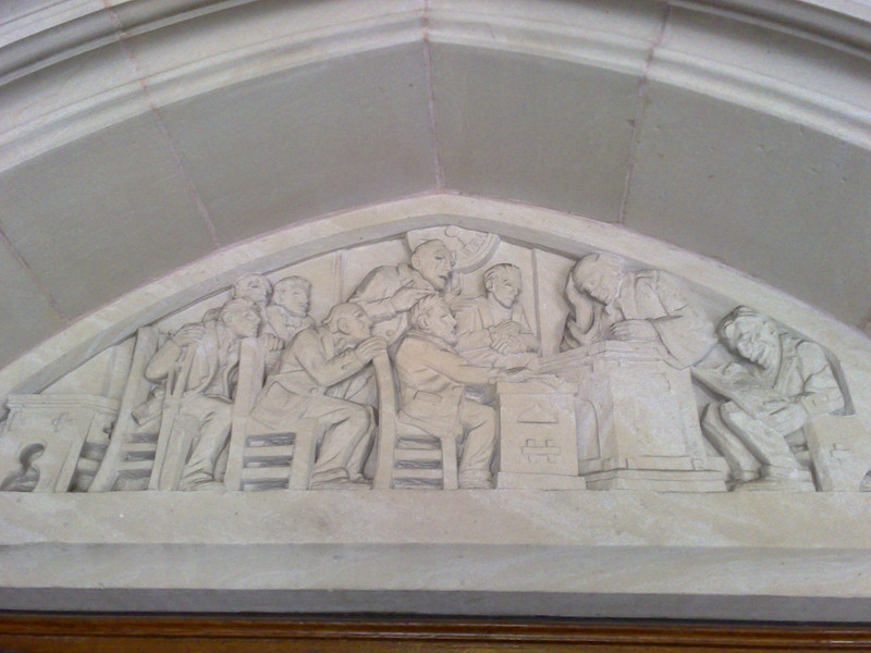 Law School Lintel - Left