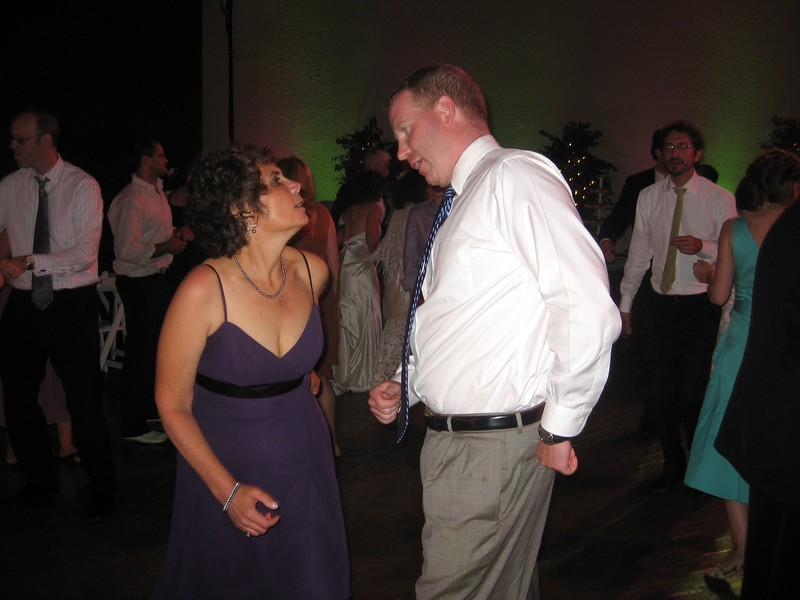 Hope (mother of the bride) dances with Joe (friend of the bride)