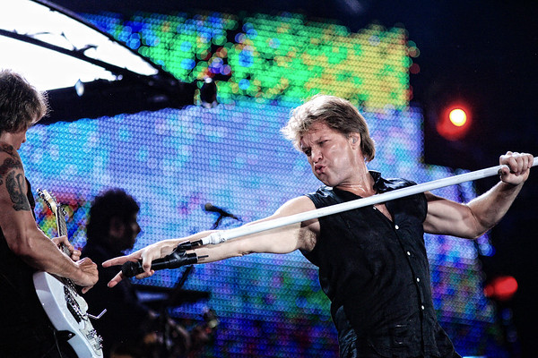 Bon Jovi performing live at the olympic stadium   in Athens