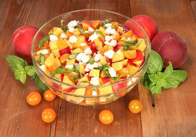 Nectarine, Basil & Feta Salad
