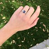2.08ctw Sapphire and Diamond Ring, GIA No-Heat 23