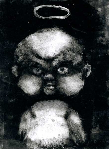 Such a good baby, monoprint