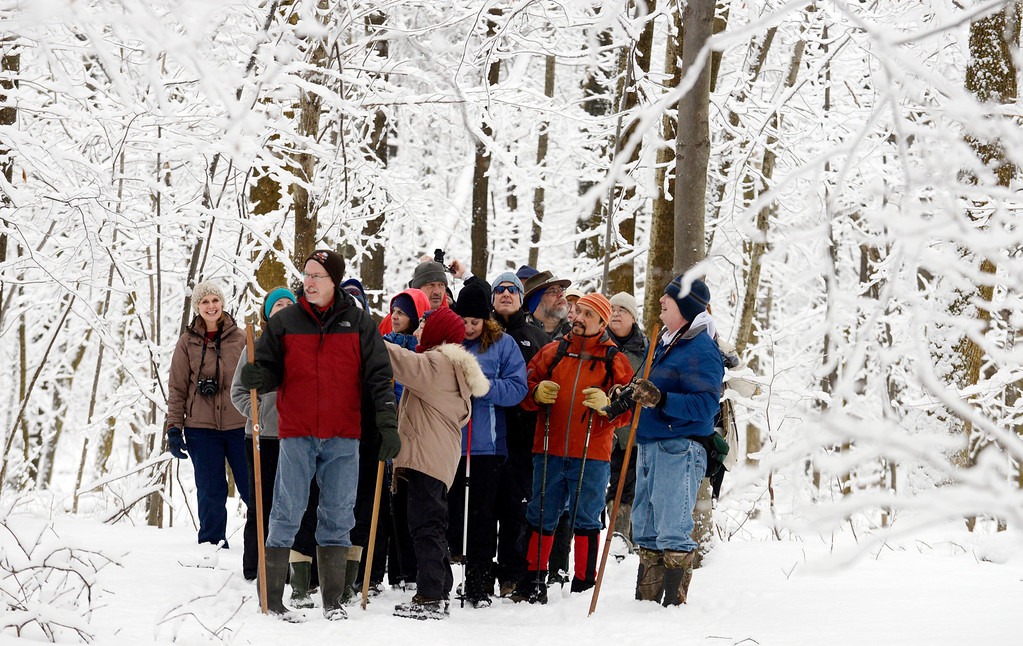 . Maribeth Joeright/MJoeright@News-Herald.com Folks participating in Penitentiary Glen\'s gorge hike were in for a real treat, Sunday. Saturday\'s rains gave way to colder temperatures and snow which flocked all the trees, creating beautiful scenery in every direction.