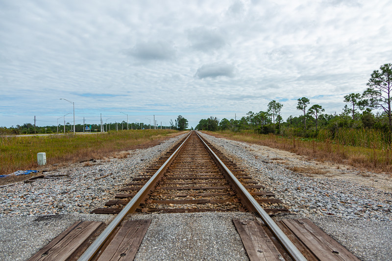 Looking south at the rail tracks at the J.W. Corbett entrance where an Amtrak train collided with a SUV Saturday, November 23, 2019, killing one adult and two children.   [JOSEPH FORZANO/palmbeachpost.com]