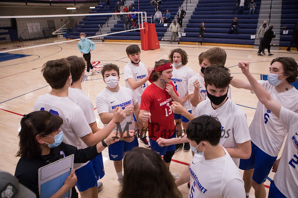 2021-4-29 WHS Boys Volleyball vs Coe-Brown