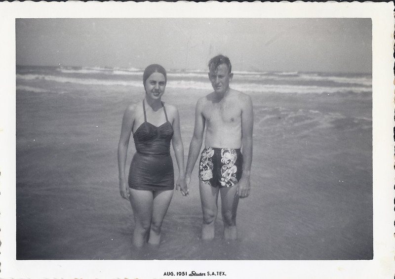 Mom and Dad at the beach (1951)