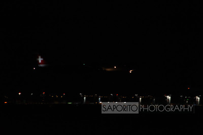 Logan Airport at Night from Winthrop