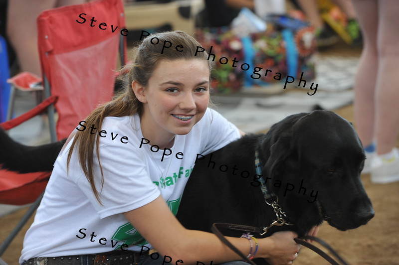 Emily Schmiser, 16, of Elkhart, poses for a picture with her dog before the 4-H Dog Show at the Iowa State Fair on Aug. 20. (Iowa State Fair/ Steve Pope Photography)