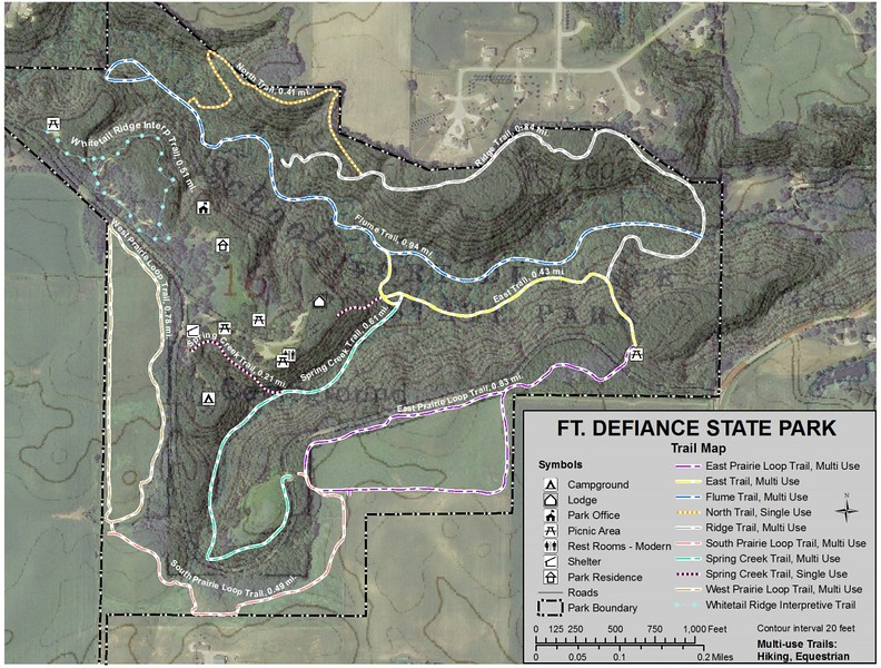 Fort Defiance State Park (Trail Map)