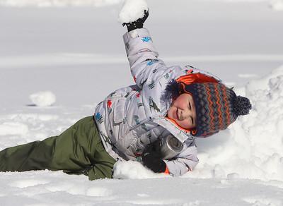 Rotary Park Wilmington playground in snow 020621