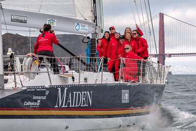 Maiden's San Francsico Arrival 19 Aug 2019