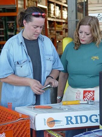 Women Build Home Depot Class August 2, 2004