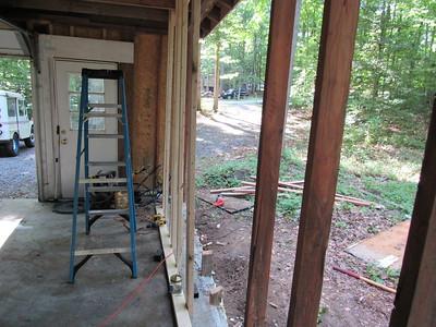 Shit garage re-siding became re-framing