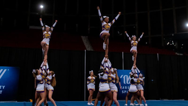 Broughton cheerleading Pre-States. November 16, 2019. D4S_1722