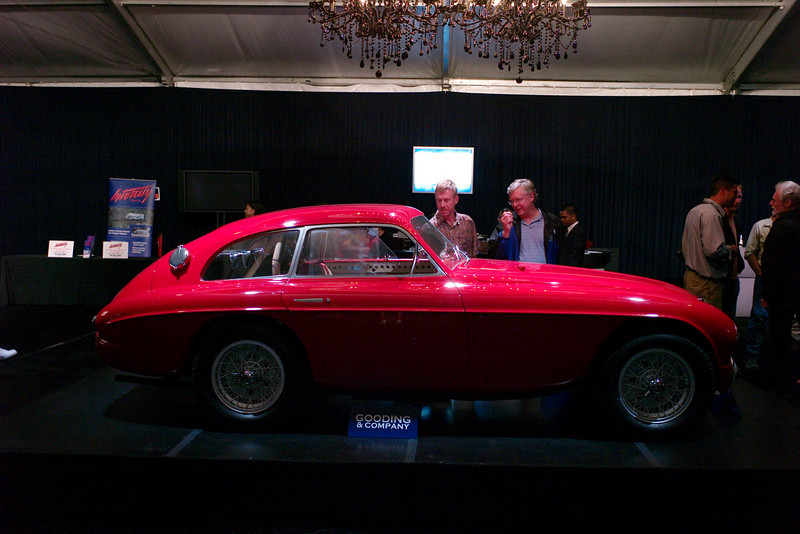 Ed and Dave lusting after something red at Gooding auction. Restraint prevailed. Sold at $2.2 mil.