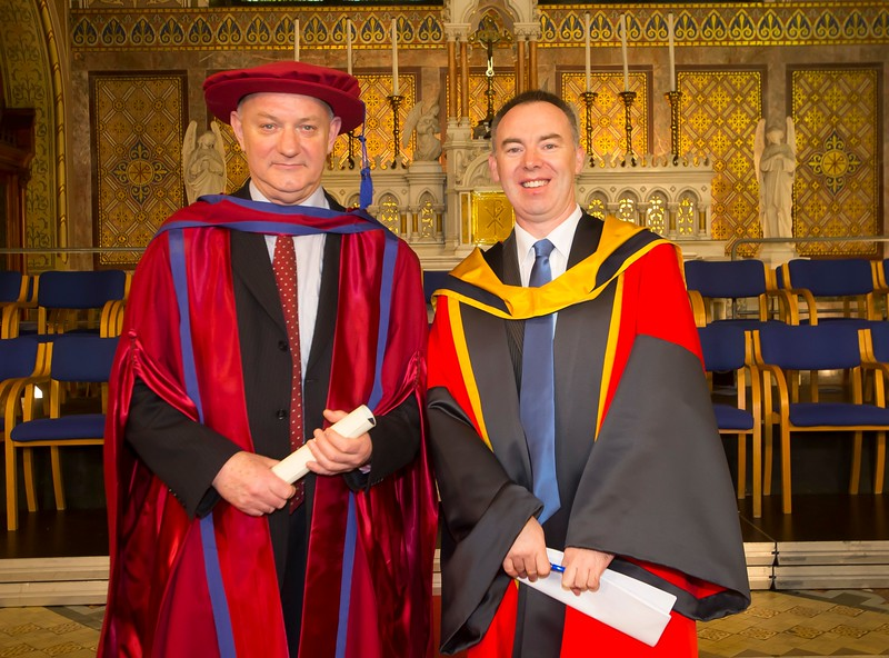 06/01/2015. FREE TO USE IMAGE. WIT (Waterford Institute of Technology) Conferring. Pictured is Brother Ben Hanlon, De La Salle, Waterford City who was conferred a Doctor of Philosophy.  Picture: Patrick Browne