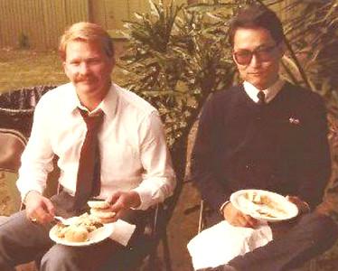 "Dennis Gillette & Cameron Ainley at Michael's ""Celebration of Life"""