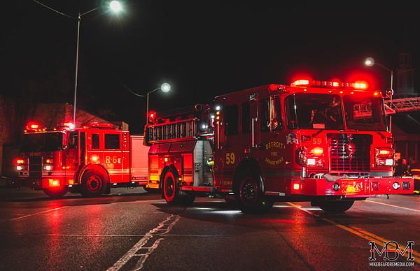 Detroit MI, Commercial Fire 3-21-2020