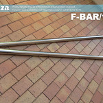 SKU: F-BAR/1860, Pair of Two Stainless Steel Round Bars for Take-Up Media Roller of 1800/1860mm Large Format Pinter