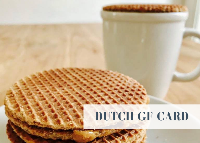 dutch amsterdam holland netherlands gluten free restaurant card