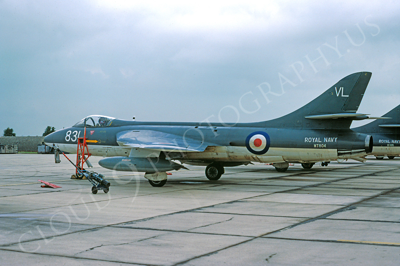 Hawker Hunter 00021 Hawker Hunter British Royal Navy WT804 August 1978 by Clive Moggoridge .JPG