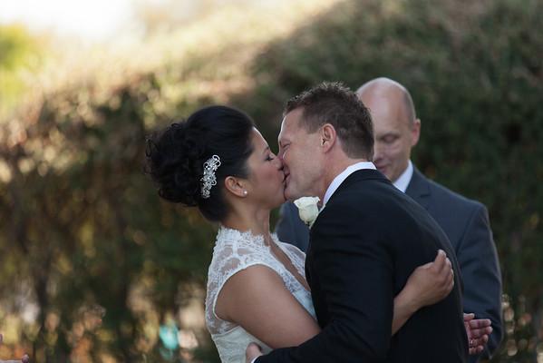 Liela and Ross | Fairmont Hotel | San Jose Rose Garden | Papillon Restaurant wedding