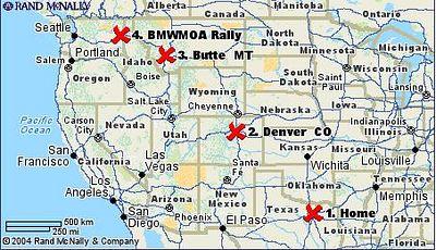 2004 Spokane BMWMOA Trip