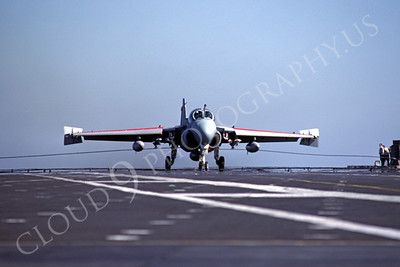 US Navy Grumman A-6 Intruder Airplane Aircraft Carrier Scene Pictures