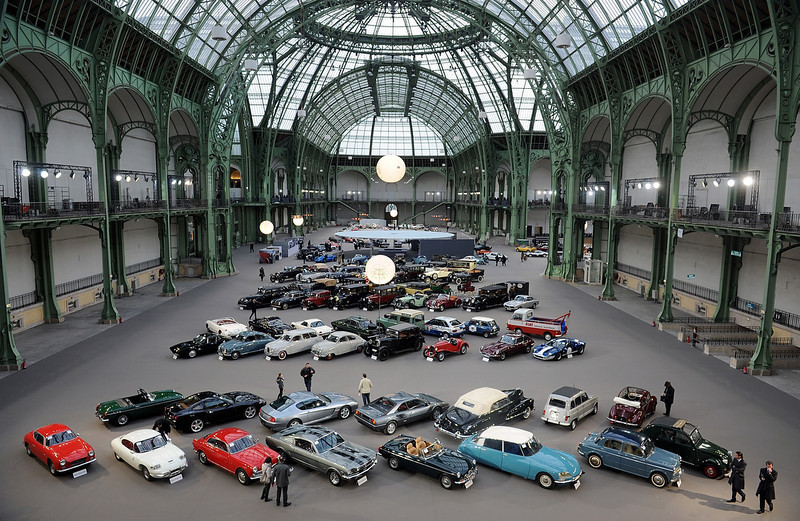 . Vintage cars and motorbikes are displayed  during an exhibition, by Bonhams auction house, at Le Grand Palais on February 5, 2014 in Paris, France.  (Photo by Antoine Antoniol/Getty Images)