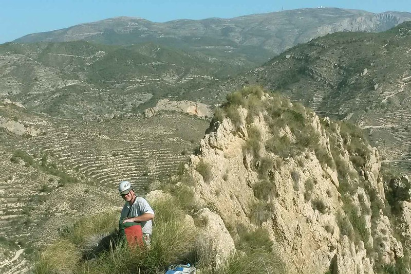 Completing the Figuerets Via Ferrata with Richard