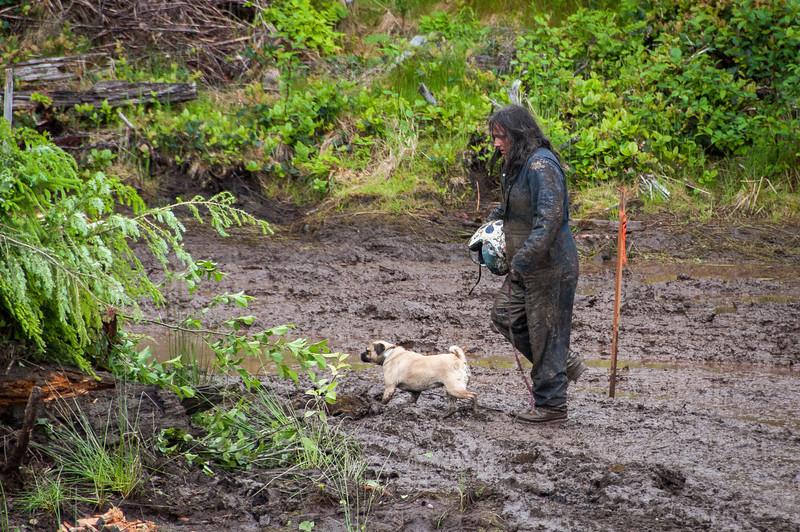 Mud-bog races in Port Clements, Haida Gwaii, British Columbia