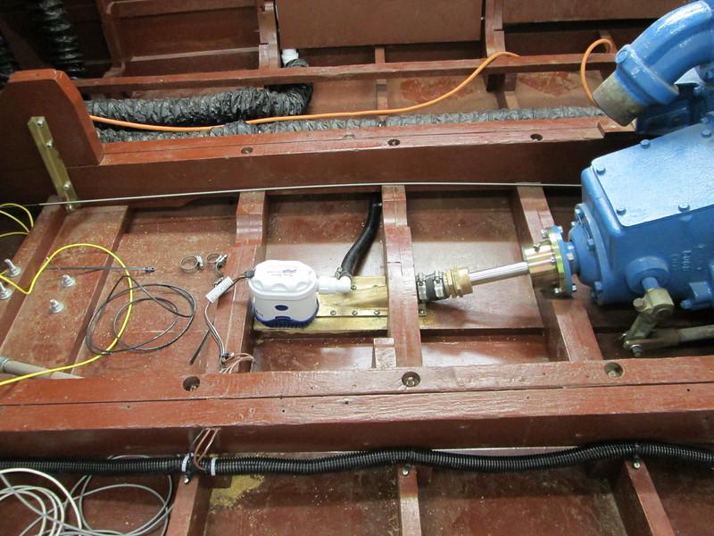 Rear bilge pump installed.