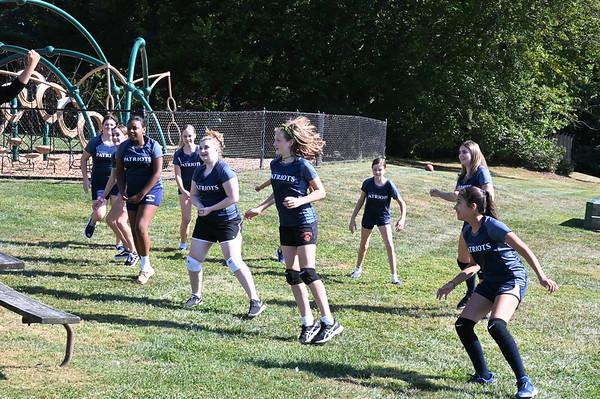 Girls Volley Ball Practice
