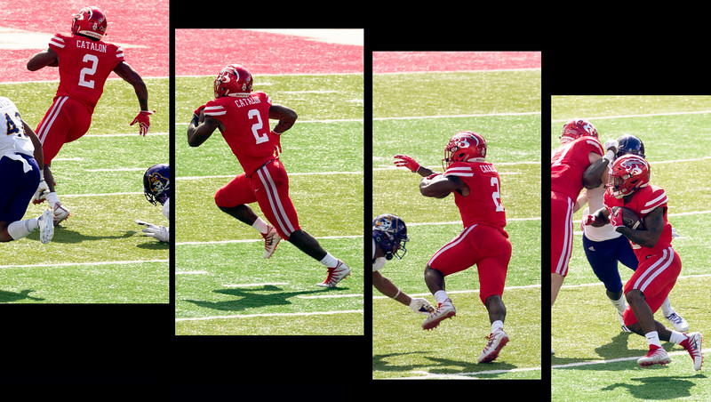 Catalon runs the ball 22 yards for another UH touchdown.