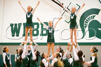 Webb Middle vs. Grace (1-19-18) Cheerleaders