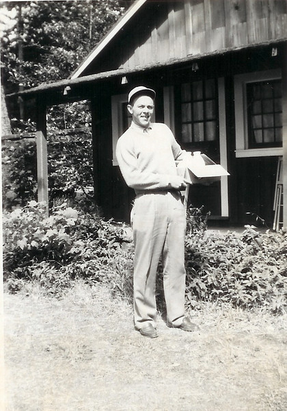 Fred on his honeymoon They rented a cabin in Stehekin, in the Washington Cascades They were married in Seattle, June, 1949
