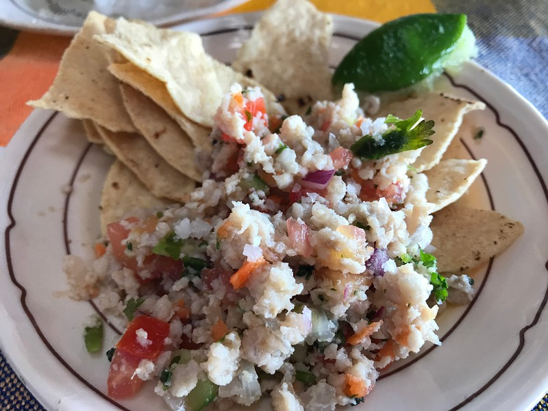 Ceviche in Manzanillo, Mexico