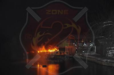 Seaford F.D. Boat Fire T/R/O 3820 Tiana St. 1/28/15