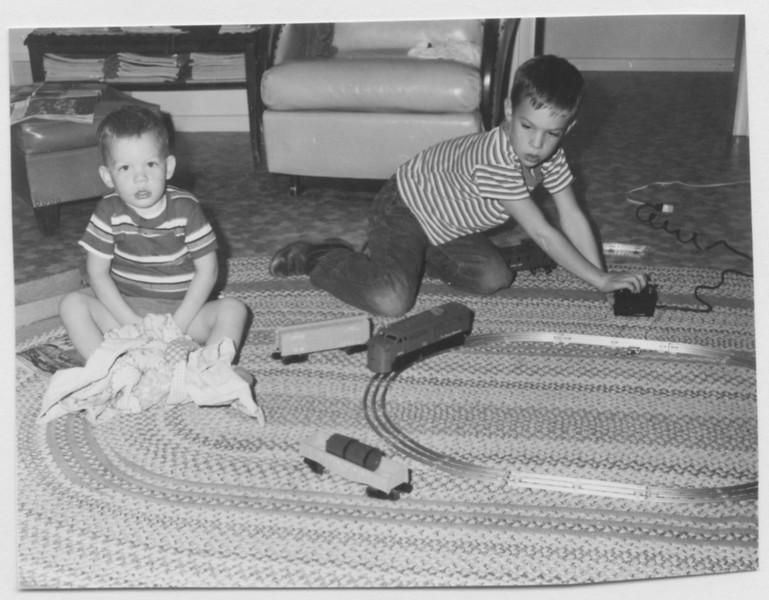 Jeff, David  Christmas 1960