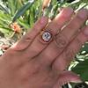3.12ct Old European Cut Diamond Ruby Halo Ring, GIA L  22