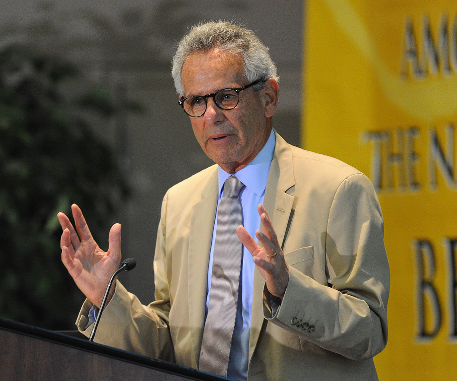 . Rep. Alan Lowenthal takes part in a discussion about the states efforts to implement the Affordable Care Act during a town hall meeting at CSULB  in Long Beach, CA on Friday, September 6, 2013.  (Photo by Scott Varley, Press-Telegram)