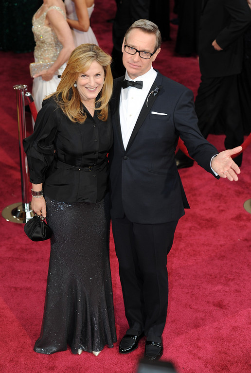 . Paul Feig and his wife Laurie Karon attend the 86th Academy Awards at the Dolby Theatre in Hollywood, California on Sunday March 2, 2014 (Photo by John McCoy / Los Angeles Daily News)