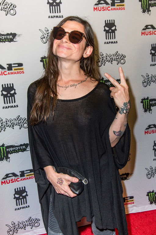 . Mina Caputo seen at 2017 Alternative Press Music Awards at the KeyBank State Theatre on Monday, July 17, 2017, in Cleveland. (Photo by Amy Harris/Invision/AP)