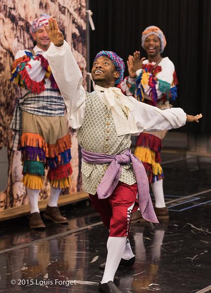 Dancer Aaron R. White and cast in Opera Lafayette's production of Grétry's L'Épreuve Villageoise