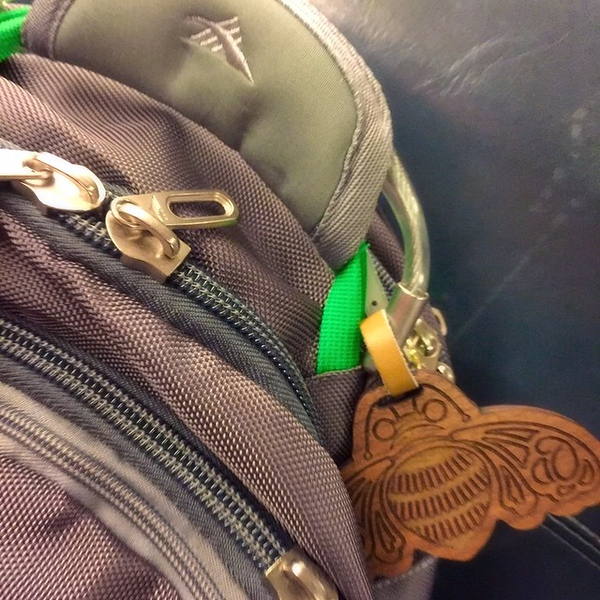New backpack deserves a fancy new name/luggage tag. Thank you @christimcneill @patron !!