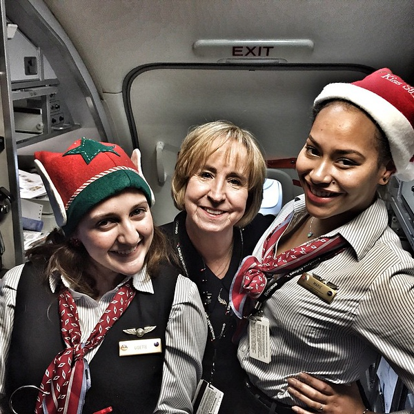 Holiday spirit alive and well on @americanair today!