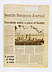 Seattle Business Journal's inaugural first print edition from April 21, 1980