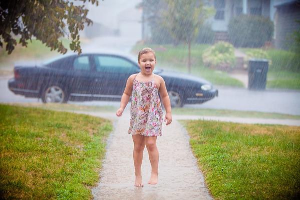 Rain drops are fallin
