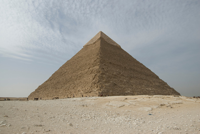 Profile of the Great Pyramid - Giza, Egypt
