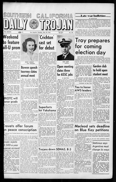 Daily Trojan, Vol. 36, No. 132, May 29, 1945